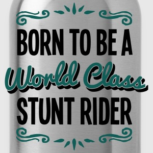 stunt rider born to be world class 2col - Water Bottle
