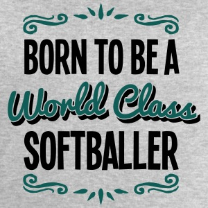 softballer born to be world class 2col - Men's Sweatshirt by Stanley & Stella