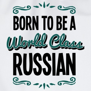 russian born to be world class 2col - Drawstring Bag