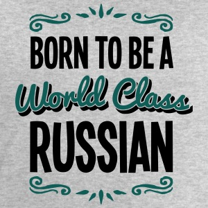 russian born to be world class 2col - Men's Sweatshirt by Stanley & Stella