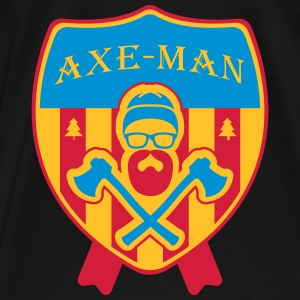 Axeman Logo Hoodies & Sweatshirts - Men's Premium T-Shirt