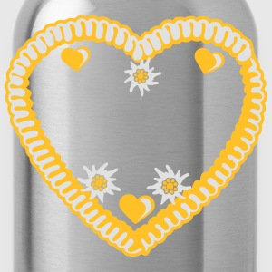 Heart, edelweiss, flowers, gingerbread, heart, bav T-Shirts - Water Bottle