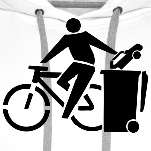 Eco-Friendly Bike Riding Stickfigure T-Shirts - Men's Premium Hoodie