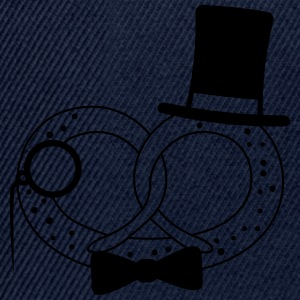Mr sir gentlemen hat cylinder monocle glasses fly  T-Shirts - Snapback Cap