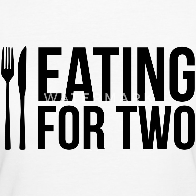 Eating for two - drinking for three T-Shirts - Frauen Bio-T-Shirt