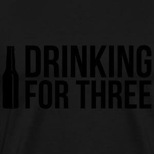 Eating for two - drinking for three Sportbekleidung - Männer Premium T-Shirt