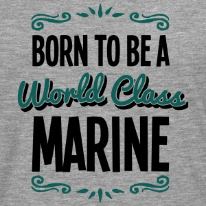 marine born to be world class 2col - Men's Premium Longsleeve Shirt