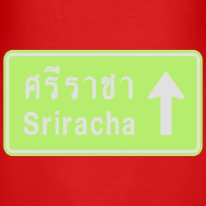 Sriracha, Thailand / Highway Road Traffic Sign Bags & Backpacks - Men's Slim Fit T-Shirt