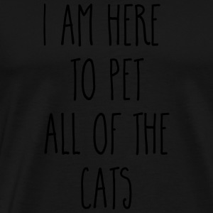 Pet All The Cats Funny Quote  Bluzy - Koszulka męska Premium