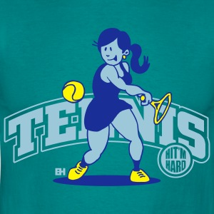 Tennis, Hit'm hard Hoodies & Sweatshirts - Men's T-Shirt