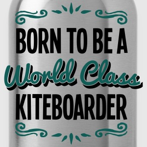 kiteboarder born to be world class 2col - Water Bottle