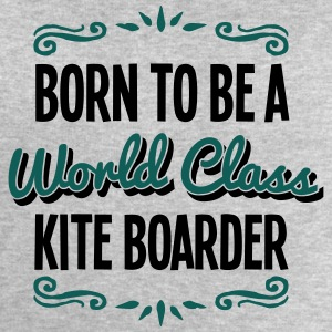 kite boarder born to be world class 2col - Men's Sweatshirt by Stanley & Stella