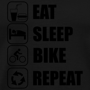 Eat,sleep,bike,repeat Bicicletta, - Maglietta Premium da uomo