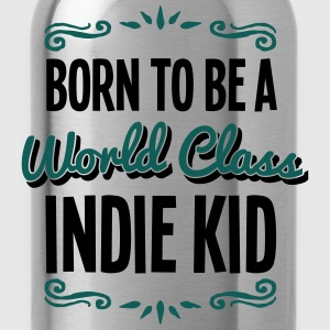 indie kid born to be world class 2col - Water Bottle