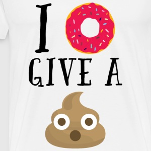 Donut Give A Sh*t Funny Quote  Sweaters - Mannen Premium T-shirt