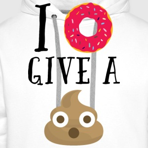 Donut Give A Sh*t Funny Quote  Topper - Premium hettegenser for menn
