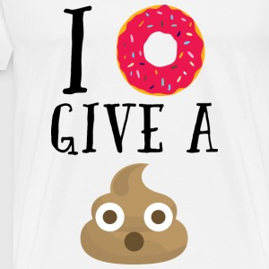 Donut Give A Sh*t Funny Quote  Topper - Premium T-skjorte for menn