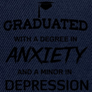 Graduated with degree in anxiety and depression T-Shirts - Snapback Cap