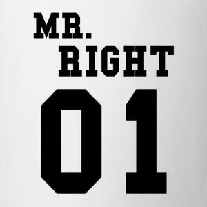 MR RIGHT! (Partner skjorta 2of2) Tröjor - Mugg