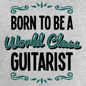 guitarist born to be world class 2col - Men's Sweatshirt by Stanley & Stella