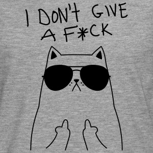 Geek Cat I Don't Give A F*CK T-Shirts - Men's Premium Longsleeve Shirt