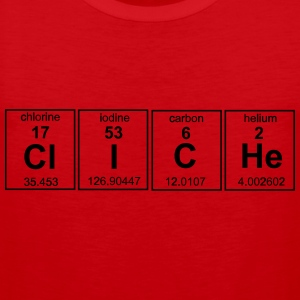 Cliche Periodic Table T-Shirts - Men's Premium Tank Top