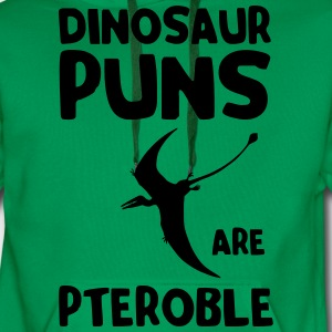 Dinosaur puns are pteroble T-Shirts - Men's Premium Hoodie