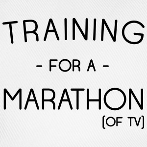 Training for a marathon (of TV) T-Shirts - Baseball Cap