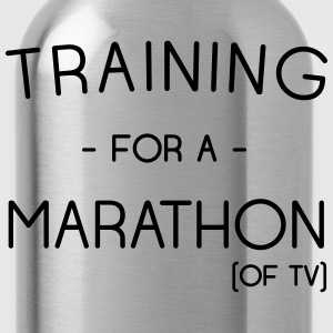 Training for a marathon (of TV) T-Shirts - Water Bottle