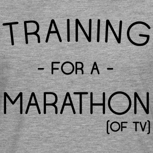 Training for a marathon (of TV) T-Shirts - Men's Premium Longsleeve Shirt