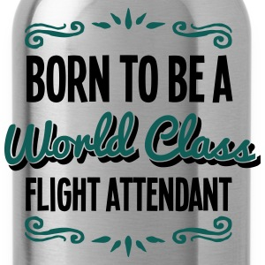flight attendant born to be world class  - Water Bottle
