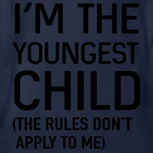 I'm the youngest child. No rules Shirts - Organic Short-sleeved Baby Bodysuit