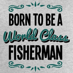 fisherman born to be world class 2col - Men's Sweatshirt by Stanley & Stella