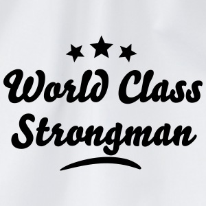 world class strongman stars - Drawstring Bag
