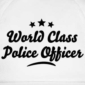 world class police officer stars - Baseball Cap