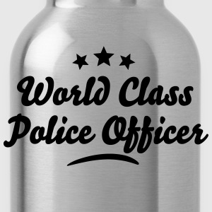 world class police officer stars - Water Bottle