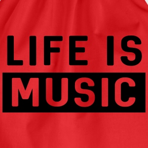 Life is Music T-Shirts - Drawstring Bag
