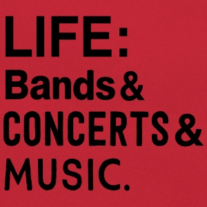 Life: bands, Concerts, and Music T-Shirts - Retro Bag