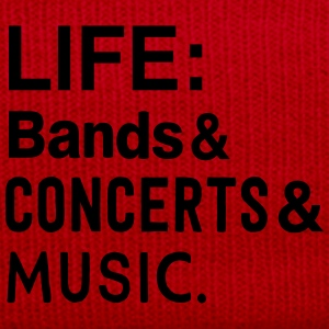 Life: bands, Concerts, and Music T-Shirts - Winter Hat