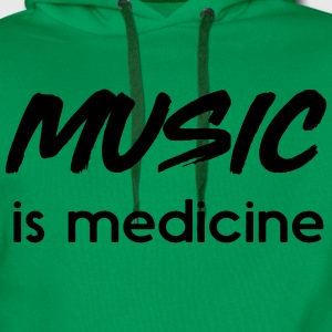 Music is medicine T-Shirts - Men's Premium Hoodie