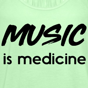 Music is medicine T-Shirts - Women's Tank Top by Bella