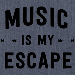 Music is my escape T-Shirts - Shoulder Bag made from recycled material