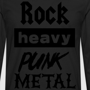 Rock Heavy Punk Metal T-Shirts - Men's Premium Longsleeve Shirt