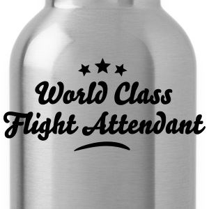 world class flight attendant stars - Water Bottle