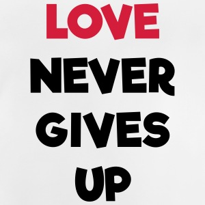 Love Never Gives Up Quote Shirts - Baby T-Shirt