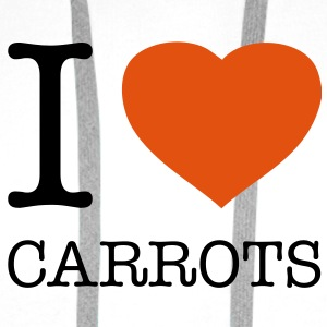 I LOVE CARROTS - Premium hettegenser for menn