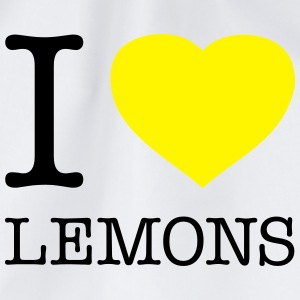 I LOVE LEMONS - Drawstring Bag