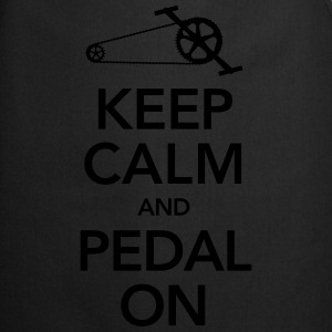 Cyclist | Keep Calm And Pedal On Tee shirts - Tablier de cuisine