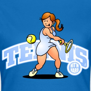 Tennis, Hit'm hard Pullover & Hoodies - Frauen T-Shirt
