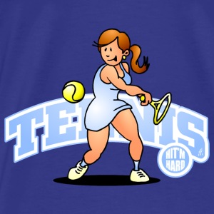 Tennis, Hit'm hard Bags & Backpacks - Men's Premium T-Shirt